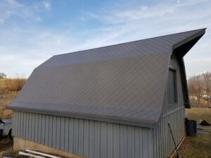 Barn with Dragon Armor on roof