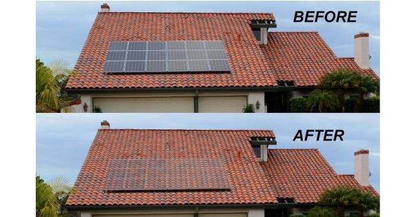 before and after camouflage solar panels