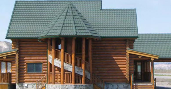 DECRA Add metal roof to log home
