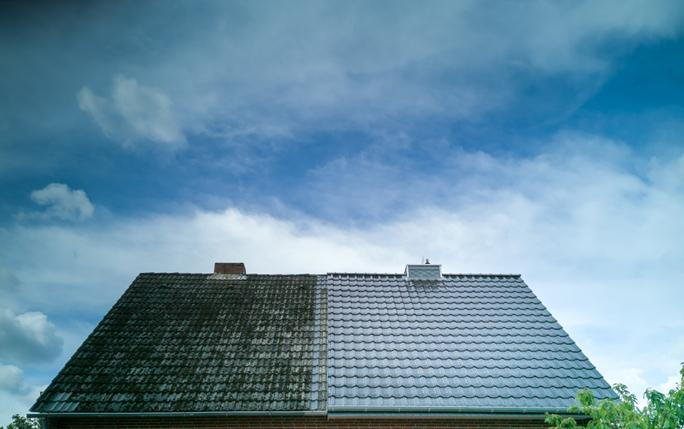 contractor performing roof maintenance